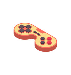 Joystick retro isometry isolated gamepad game vector