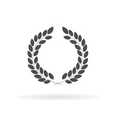 laurel wreath icon for web business finance and vector image
