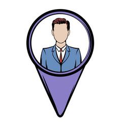 location people icon cartoon vector image