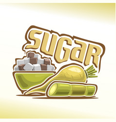 Logo sugar vector