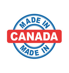 made in canada emblem flat vector image