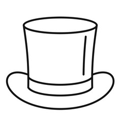 Magic hat icon outline style vector