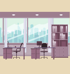 Modern office interior cartoon style vector