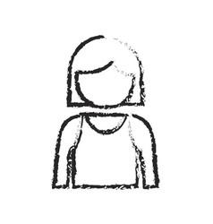 monochrome blurred silhouette of girl half body vector image