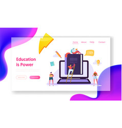 online education business course landing page vector image