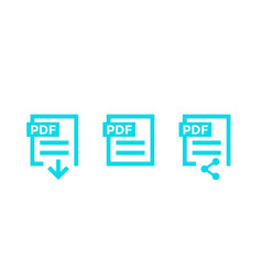 Pdf document download pdf file icons vector