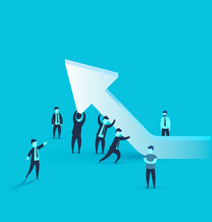people keep the business arrow at the top vector image