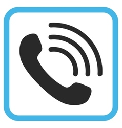 Phone Call Icon In a Frame vector image