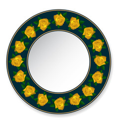 plate of yellow roses vector image