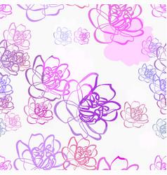 Purple flower seamless bright pattern multicolor vector