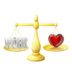 relationship or career scales vector image