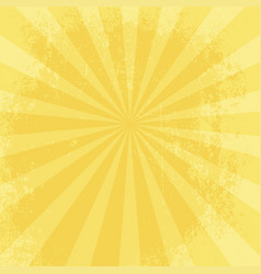 Retro yellow grungy star bust background vector