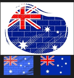 Scratched flag of australia vector