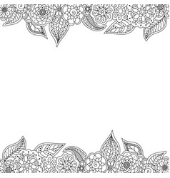 seamless decorative border of floral elements vector image