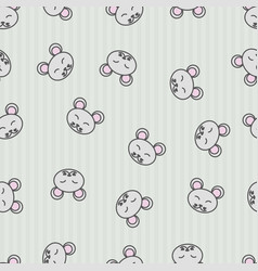 Seamless pattern background mouse wallpaper for vector