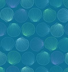 Seamless pattern of seashells vector
