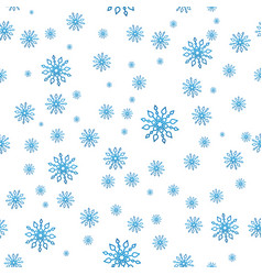 seamless snow pattern simple blue vector image