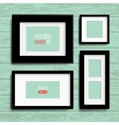 set of modern blank frames template vector image