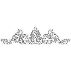 symmetrical decorative ornament vector image