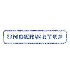 Underwater textile stamp vector