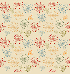vintage seamless with abstract flowers vector image