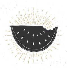 watermelon vintage label grunge textured retro vector image