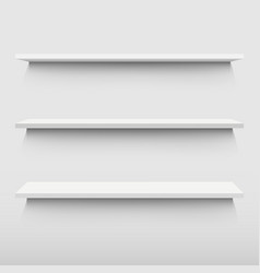white shelf vector image