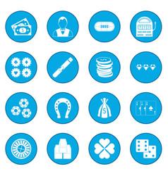 casino icon blue vector image vector image