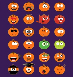 Halloween faces vector image