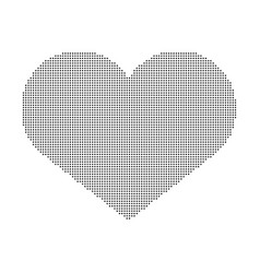 heart of dots isolated on white background vector image
