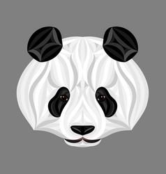 panda bear picture of panda head panda face vector image