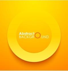 Paper orange circle banner with drop shadows vector image vector image
