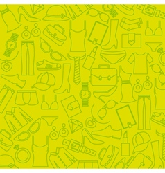 background clothing and accessories vector image