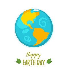 earth day greeting card vector image