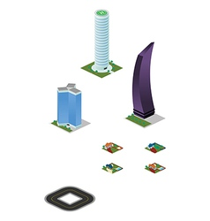 Isometric City Misc Buildings Pack vector image