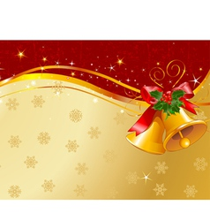 christmas design with christmas bells vector image vector image