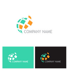 digital technology company logo vector image