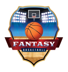 Fantasy Basketball Badge vector image