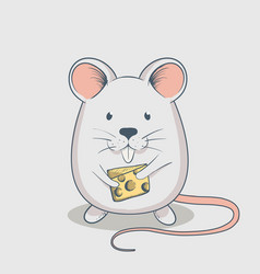 funny mouse keeps cheese vector image vector image