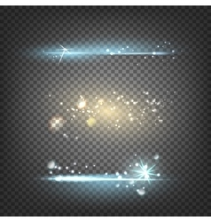 Lighting flare special effect vector image vector image