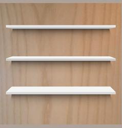 wooden shelf vector image vector image