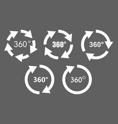 360 degree rotation icons vector