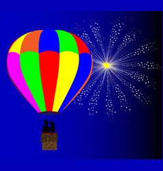 4th july hot air balloon vector