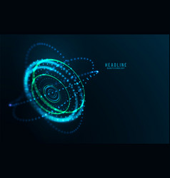 Abstract futuristic object hud elemet vector