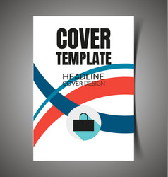 abstract report cover11 vector image