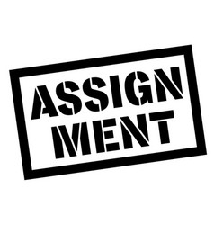 Assignment sticker stamp vector