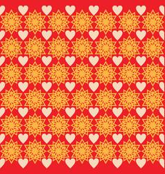 background love star ornament pattern orange vector image