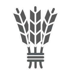 Barley glyph icon harvest and rye wheat sign vector
