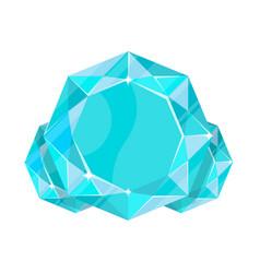 Blue jewelry aquamarine icon vector