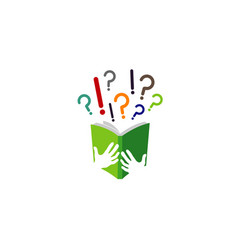 book ideas learning logo vector image